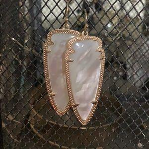 Kendra Scott Skylar mother of pearl earrings